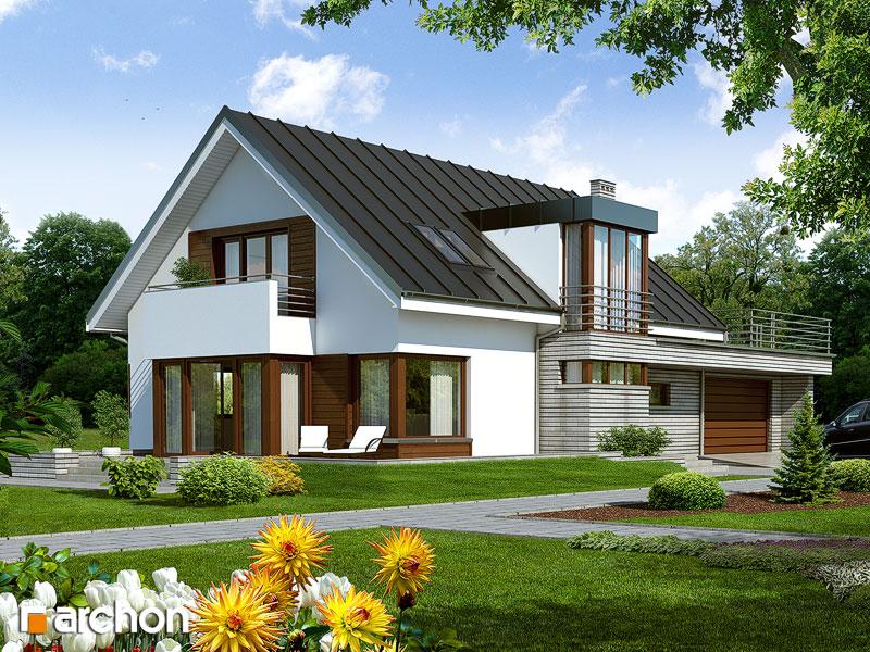 проекты немецких домов с мансардой